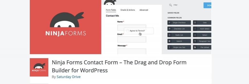 Ninja Forms WordPress plugin billboard