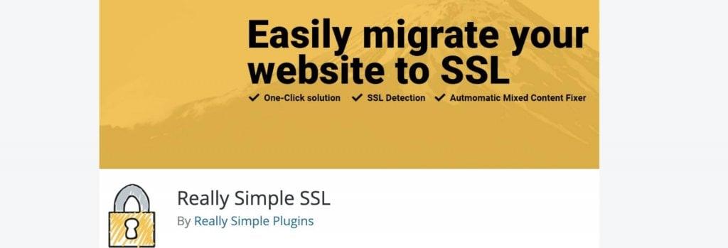 Really Simple SSL WordPress plugin billboard