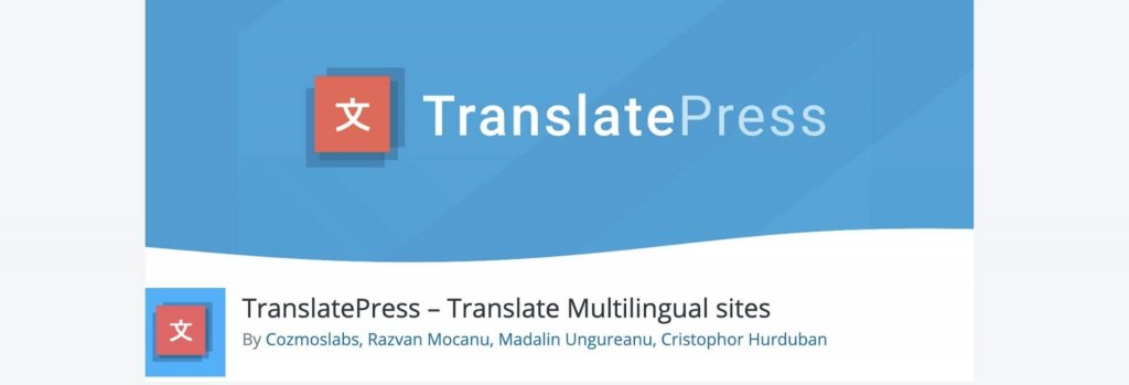 TranslatePress WordPress plugin billboard