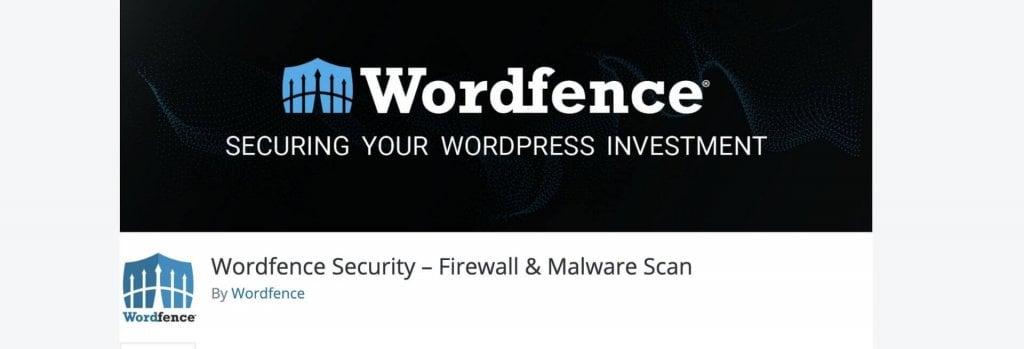 Wordfence Security WordPress plugin billboard