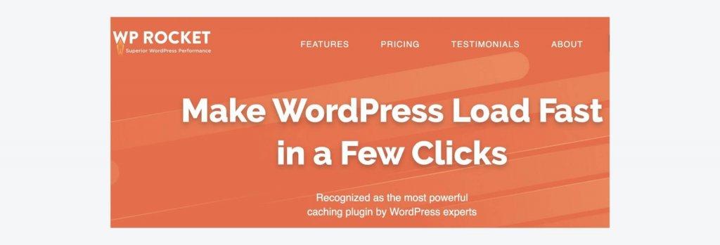 WP Rocket WordPress plugin billboard