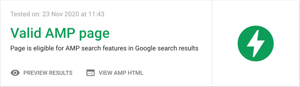 valid amp page example