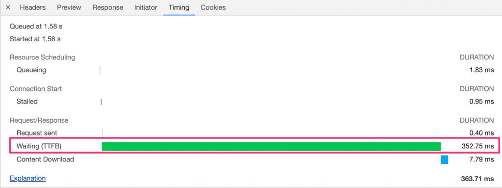 google dev tools ads waiting time menu screenshot