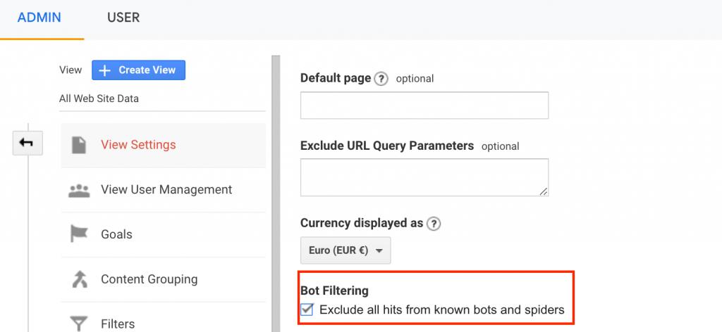 remove bot traffic from google analytics 2