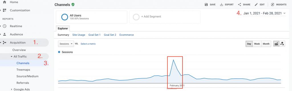 detect bot traffic on google analytics
