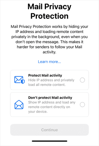 mail privacy protection apple ios 15